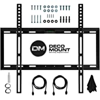 Deco Mount Flat Wall Mount Kit Ultimate Bundle for 45-90 inch TVs