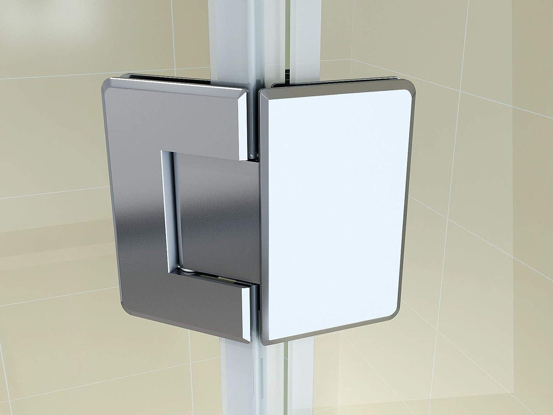 Dusche/_Einstieg DIN links Teilsatiniert ohne Duschtasse /& Ablauf F/ünfeckdusche Eckdusche Duschkabine Duschabtrennung Eckdusche F/ünfeck Glas Gr/ö/ße:90 x 90 x 190 cm