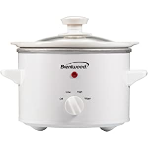 Brentwood RA30876 Appliances SC-115W 1.5 Quart Slow Cooker, White
