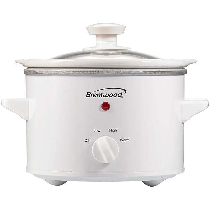 Brentwood RA30876 Appliances SC-115W 1.5 Quart Slow Cooker, White