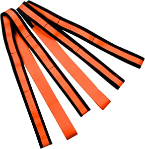JCHL Lifting and Moving Straps 2-Person Moving Straps for Furniture, Appliances, Mattresses Up to 800 lbs Capacity Moving Lifting Carry Straps Rope Orange