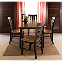 International Concepts 32 by 48-Inch Dining Table with 4 San Remo Chairs, Set of 5