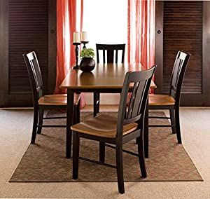 Amazing International Concepts 32 By 48 Inch Dining Table With 4 San Remo Chairs,  Set Of 5