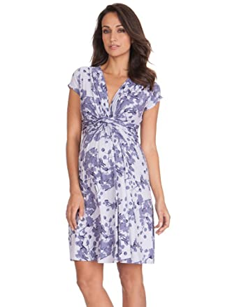 fd1f96a308477 Lavender Blossom Knot Front Maternity Dress at Amazon Women's Clothing  store: