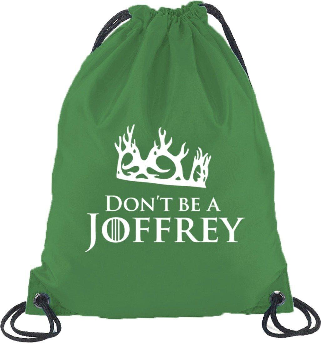 Shirtstreet24, Don't Be A Joffrey, Turnbeutel Rucksack Sport Beutel Don't Be A Joffrey Größe: onesize Dunkelgrau