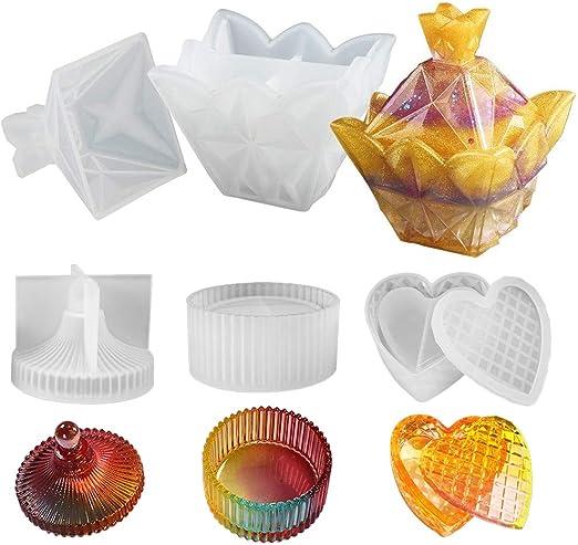 ZChun - Caja para Beber con Formas de Resina, pequeñas Formas de joyero de Silicona, Formas de Resina epoxi: Amazon.es: Hogar