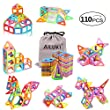 Ailuki 110PCS Magnetic Building Blocks Magnet Tiles Educational Stacking Blocks Boys Girls Toys for Children Educational and Creative Imagination Development