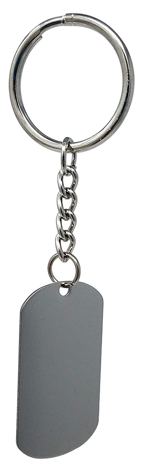 Navy Logo Military Dog Tag Stainless Steel Key-Chain Ramson/'s Imports MF1030NAV Ramsons Imports U.S