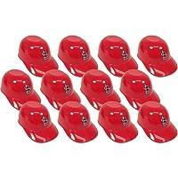 MLB Mini Batting Helmet Ice Cream Sundae/ Snack Bowls, Cardinals - 12 Pack