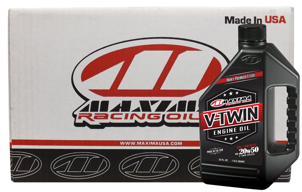 Maxima Racing Oils CS30-11901-12PK-12PK 20W-50 V-Twin Full Synthetic Engine Oil - 384 oz., (Pack of 12) by Maxima