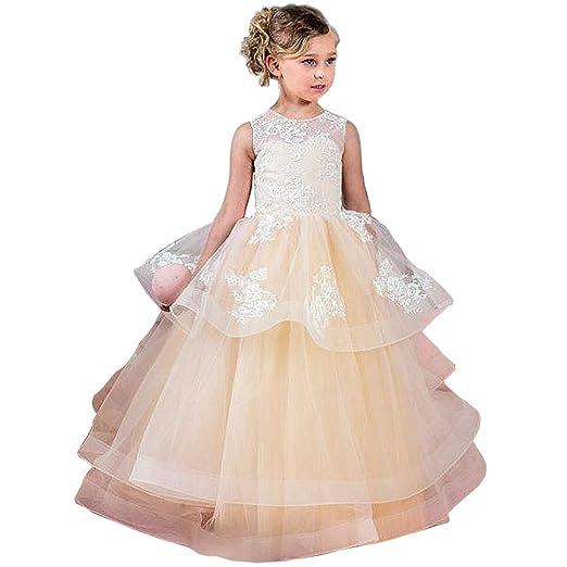 51fa3e439b17 Amazon.com  Kalos Dress Shop Summer 2018 First Communion Flower Girl ...