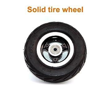 Rueda 6x2 de la rueda de la vespa de 6 pulgadas con neumático del aire o eje ...