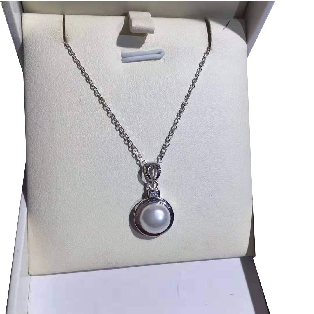 WandT S925 Fashion Pearl Necklace Young Lady Girls Birthday