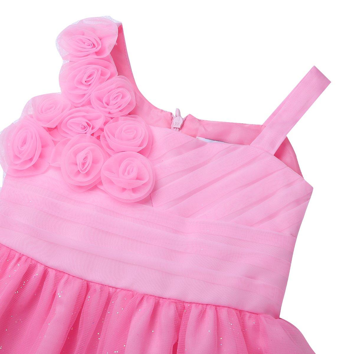 inlzdz Beb/és Vestido Infantiles Dama de Honor para Ni/ñas 0-24 Meses Brillante Vestido Princesa de Flores Tul Lazo Vestido de Boda Fiesta Cumplea/ños Fotograf/ía Pageant