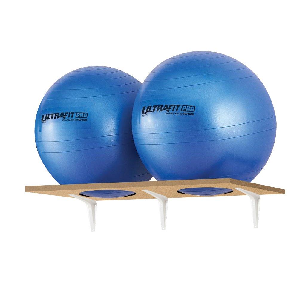 Space-Saver Stability Ball Racks For 2 balls of 45/55/65 cm Diameter, PACK-3