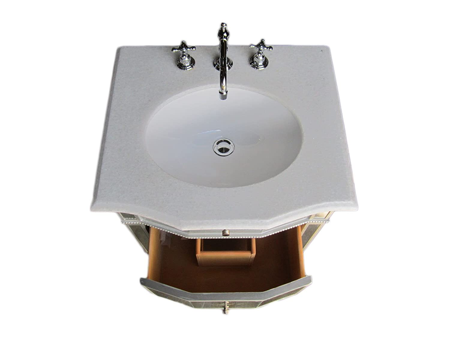 24 All Mirror Petite Bathroom Sink Vanity – Ashlie Model HF006