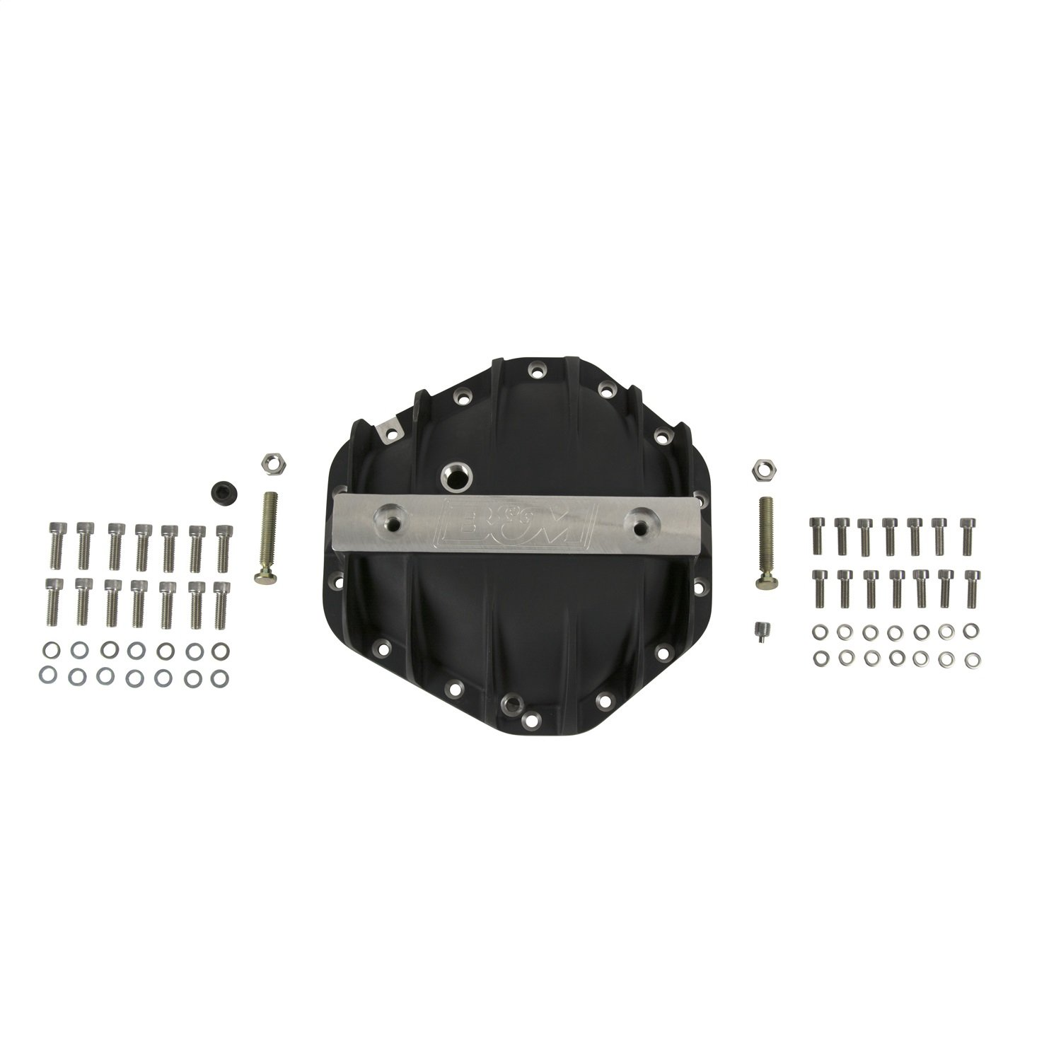 Cover//Fill And Drain Plugs//Bolts//Washers//Load Bolts//Nuts Black Differential Cover 14 Bolt Incl B/&M 71501 Differential Cover For Use w//GM 10.5 in