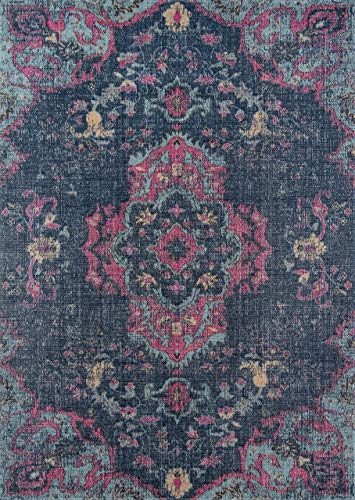 Momeni Rugs JEWELJW-02DNM7A9A Jewel Traditional Medallion Flat Weave Area Rug, 7'10