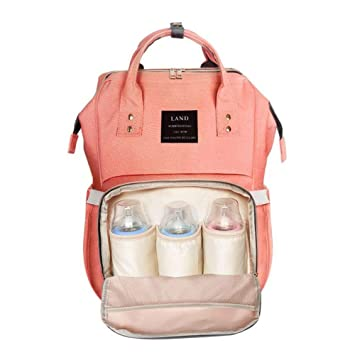 d5c48a2e7 Amazon.com   LAND Baby Diaper Bag Backpack - Multi-Function Waterproof  Maternity Travel Nappy Bags for Baby Care - Large Capacity