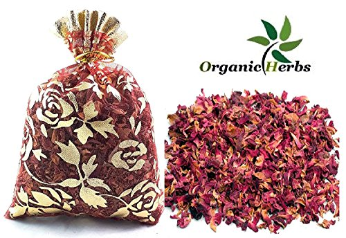 Organic Herbs (Pack of 50) 20g DRIED ROSE PETALS Potpourri Decor Organic Herbal Craft Car Perfume by Organic Herbs