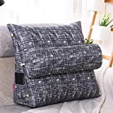 LUOTIANLANG Office sofa cushion pillow waist pillow for pregnant women Home Furnishing ornaments triangle comfortable cushion,Blue and white,50x200x20cm