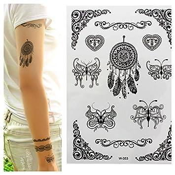 Temporary Tattoos negro Cazador de sueños, Atrapasueños, Tribales ...