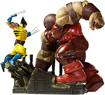 Iron Studios Marvel Comics X-Men Wolverine vs Juggernaut 1/6 Scale Battle Diorama Statue
