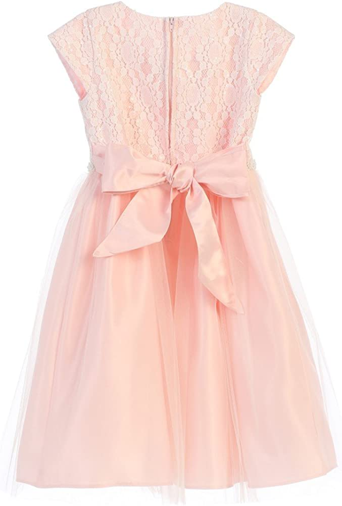 Sweet Kids Little Girls Pink Lace Sequin Tulle Flower Girl 2T-6