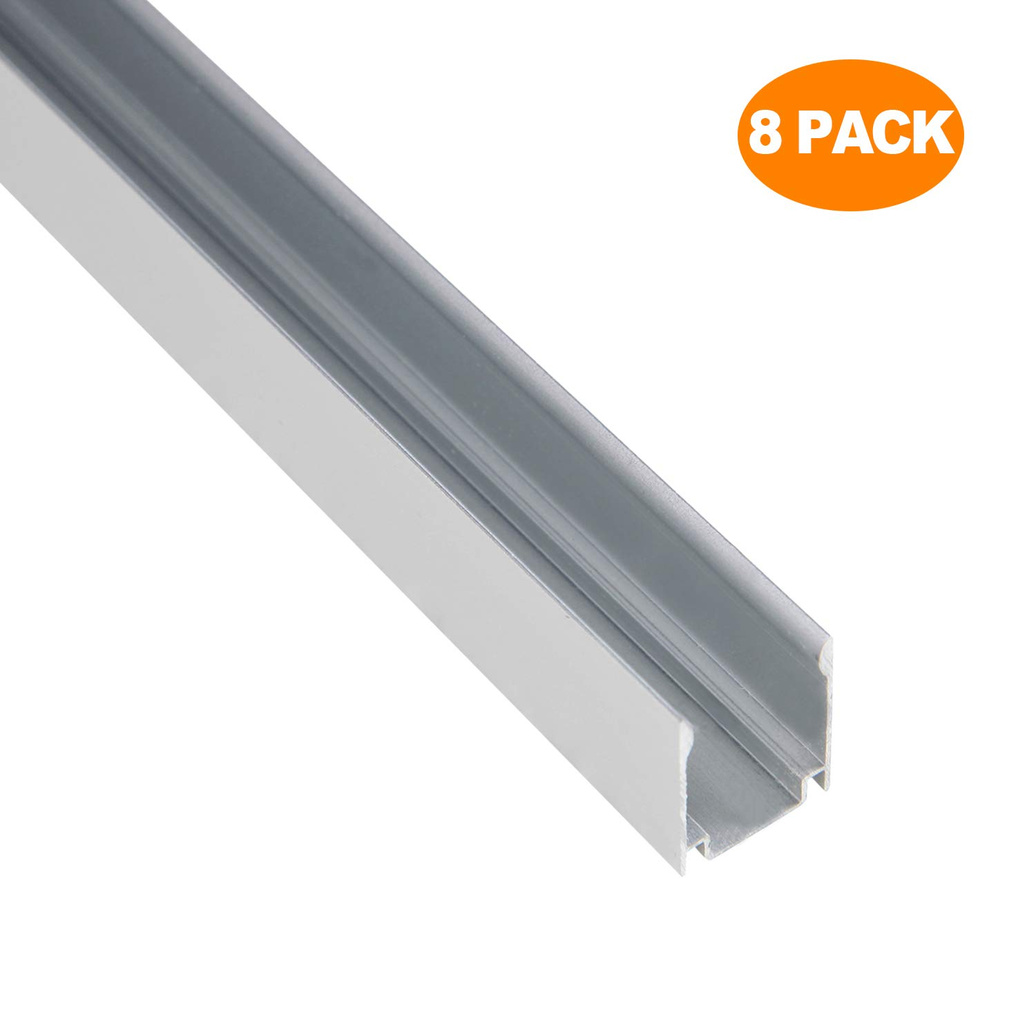 Shine Decor 3.3FT/1M Aluminum Track, Pack of 8 12.5x23mm and 15x25mm LED Neon Rope Lights