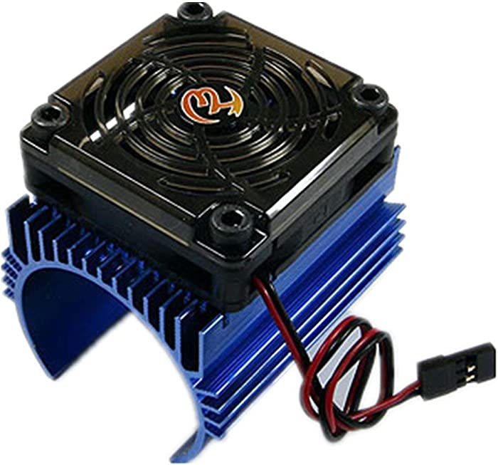 Xiangtat Hobbywing Ezrun 5V C4 Cooling Fan & 44 x 65mm Motor Heat Sink System RC Motor Fan for 1/8 Car