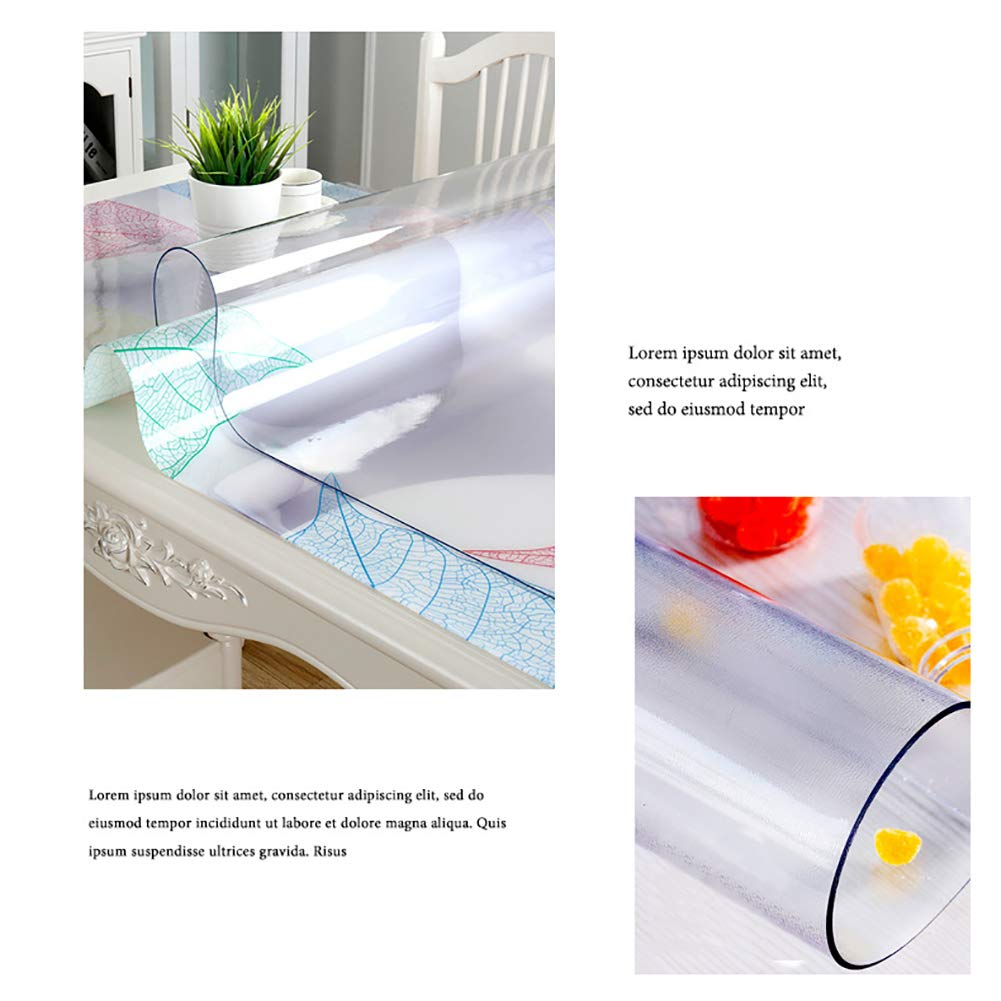 Matte 2.0mm,40 * 60cm ZLofe PVC Tablecloth Water Resistant Tablecloth Oil-Proof Anti-Stain Eco PVC Crystal Clear Table Cover Protector