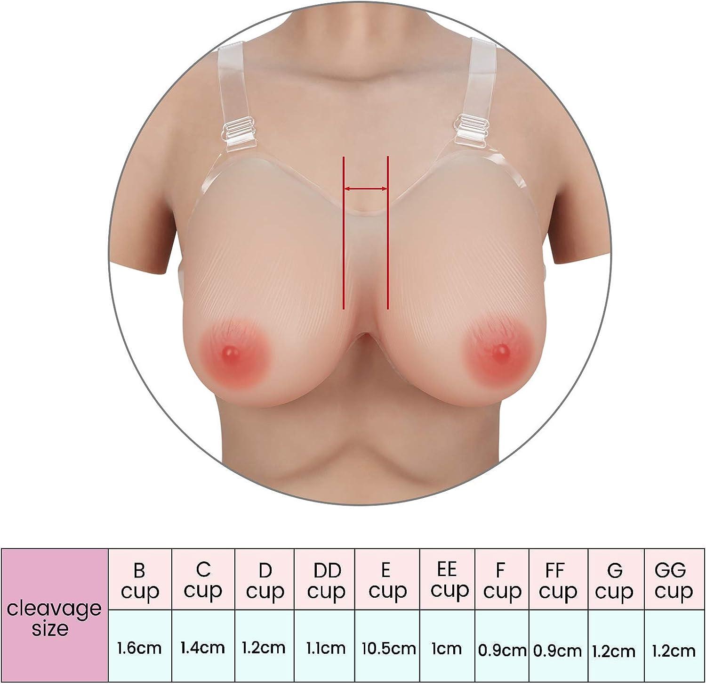 Vollence Strap on Silicone Breast Forms Forme Seno in Silicone a Strappo Seno Finto Protesi Finte Tette Mastectomia Cross-Dresser Cosplay Donne Trans