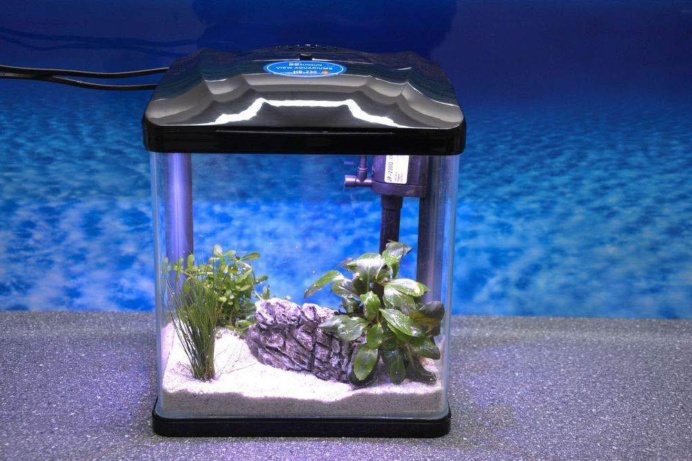 HRC-230 schwarz Nano Aquarium Komplettaquarium Mini Aquarium+Filteranlage Aquaristikwelt24