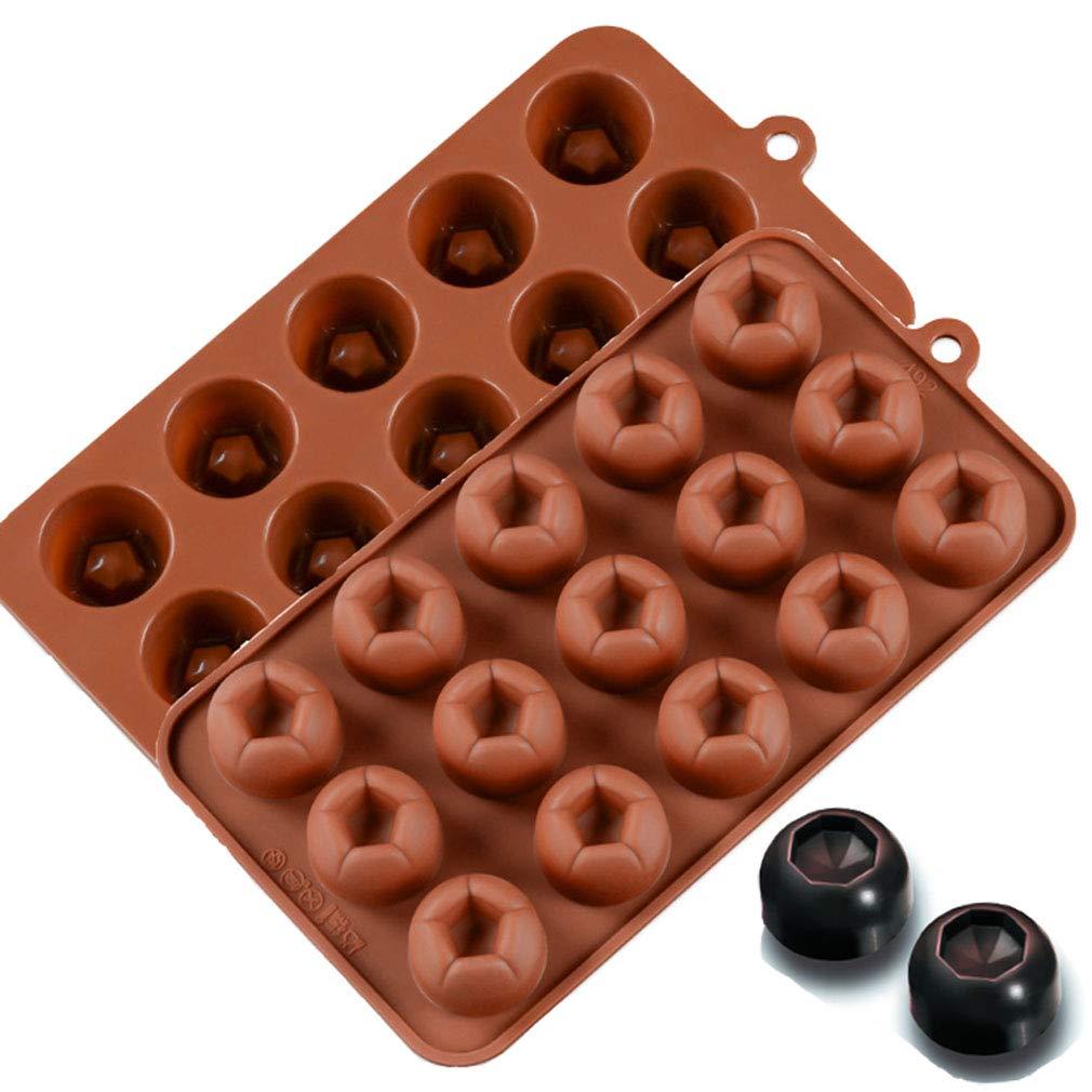 KBstore 4 Pack Moldes de Bombones de Silicona - Forma de Corazon ...