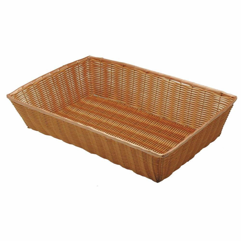 Natural Color Wicker Basket Rectangular - 26' L x 18' W x 6' H Hubert