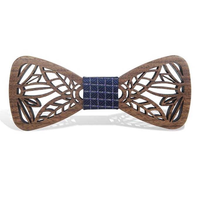 KOOWI La Corbata de Madera Hecha a Mano del Lazo de Madera de Los Hombres Creativos Handcrafted para la Boda o el Desgaste Diario olc4Nvm