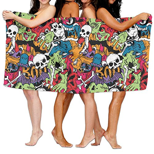 Zombie Horror Halloween Scary Monster Adult Soft Microfiber Printed Beach Towel For Swimming,surf,Gym,spa 80cm130cm (Diy Sally Halloween Costume)