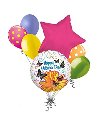 Amazoncom Jeckaroonie Balloons 7 Pc Happy Birthday Pop Art