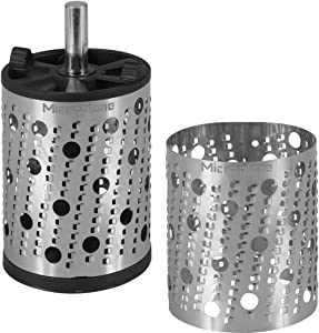 Microplane 2 inch Roary Drum Rasp Shaper and Replacement Sleeve Set - Stainless Steel