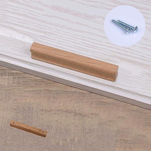 20 Wooden Knobs Kitchen Door Handles Drawers Cabinet Wood Cupboard Oak 40mm