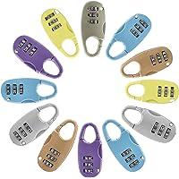 Tesosy Candado De Combinación,12 Piezas Candado de Seguridad de 3 DíGitos, Pequeño Candado, Cerradura de Combinación de…