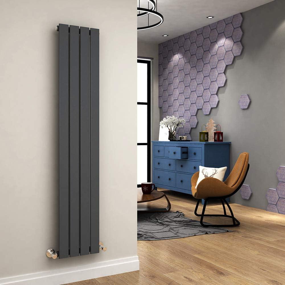 ELEGANT 1600 x 300 mm Radiators Vertical Single Flat Panel Modern Heating Anthracite Designer Tall Radiator