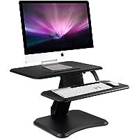 "Height Adjustable Standing Desk Converter, 25"" Wide Desktop - Sit-Stand Converting Desks with Gas Spring for Home…"