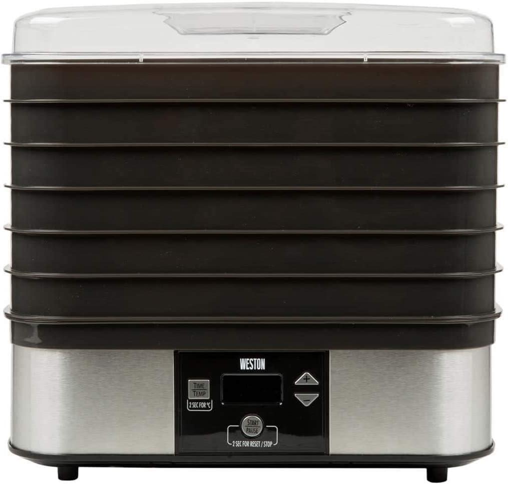 Weston 75-0401-W 6 Tray Digital Dehydrator, Silver