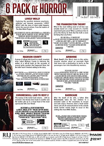 6-Pack of Horror (Lovely Molly, Airborne, Chromeskull: Laid to Rest 2, Barricade, Madison County, Frankenstein Theory)