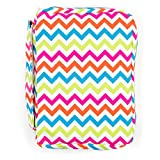 Bible Cover, Colorful Chevron Book Cover with Pockets and Handle, Covers for Women, Teens, Girls (Multi-Colored)