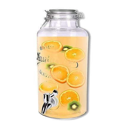 Schramm dispensador de Bebidas Aprox. 3,8 litros con Alambre Cierre de Clip zapfhahnflasche