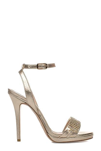bf4c762b8 Vincenzo Piccolo Mujer P09 Oro Cuero Sandalias  Amazon.es  Zapatos y  complementos