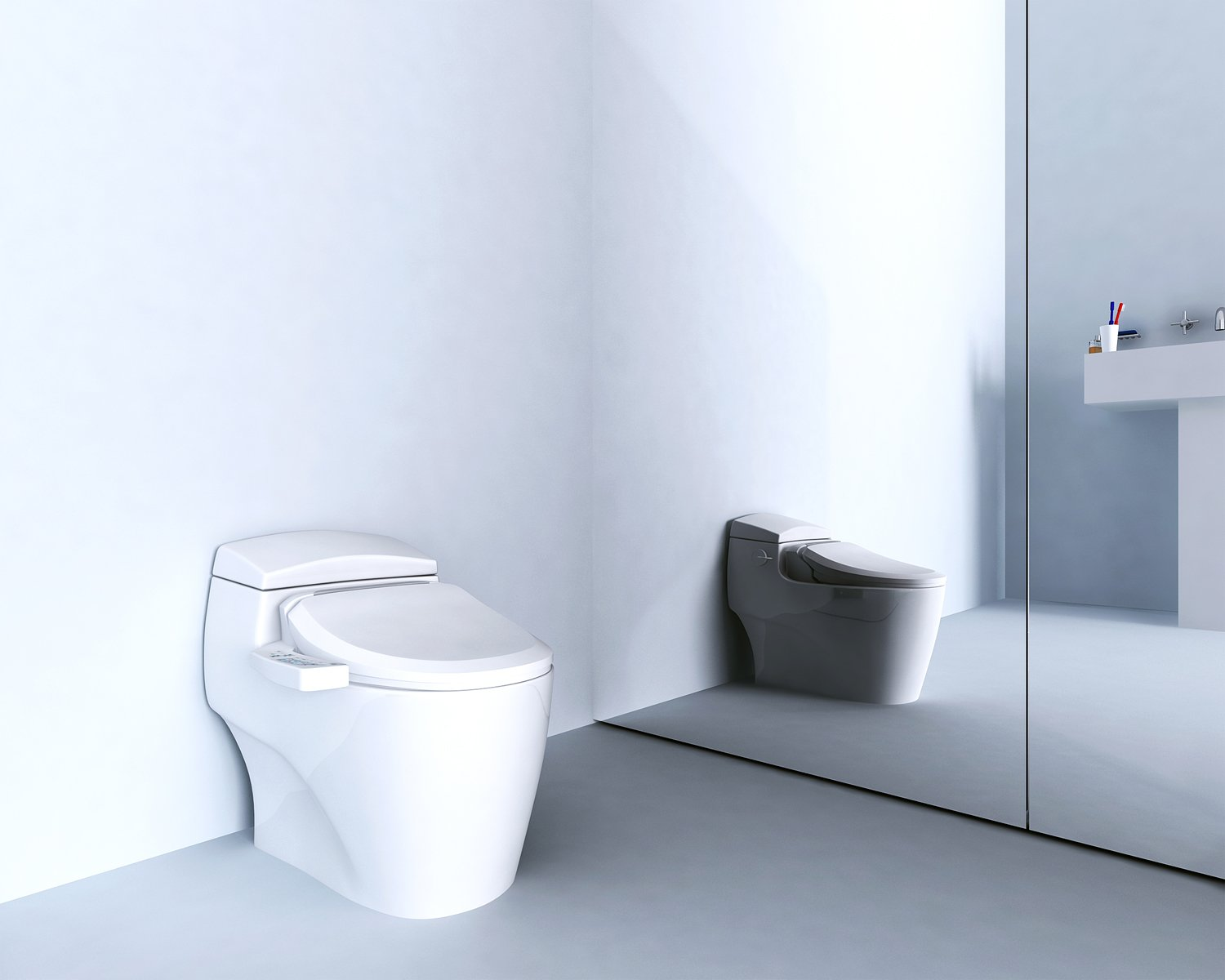 Bio Bidet Ultimate BB-600 Advanced Bidet Toilet Seat, Elongated White. Easy DIY Installation, Luxury Features From Side Panel, Adjustable Heated Seat and Water. Dual Nozzle Has Posterior and Feminine Wash by BioBidet (Image #5)
