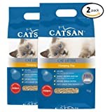 CATSAN Clumping Clay Cat Litter 7kg Bag, 2 Count
